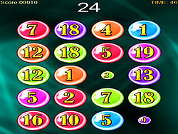 Bubble Numbers game