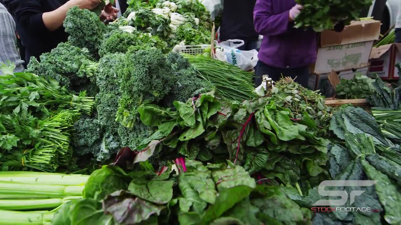 Watch free video Fresh Produce at Market in San Francisco