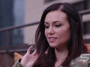 Watch free video Panning View of Beautiful Woman Close Up