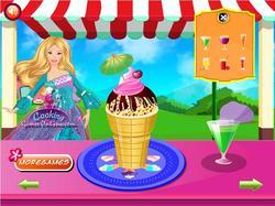 Barbie Ice Cream party game