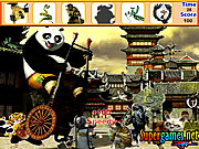 Juega al juego gratis Kung Fu Panda Hidden Objects