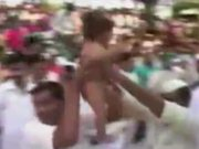 Watch free video Indian Baby Dropping Ritual