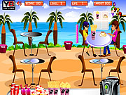 Juega al juego gratis Beach Restaurant Serving