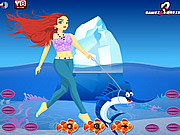 Girl with Sea Pets Dressup game