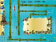 Kayak Maze game