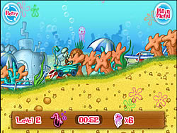 Spongebob Bathtime Burnout game