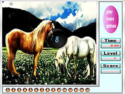 Fantastic horses hidden numbers game