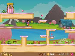 Dora Flower Basket game
