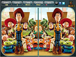 Toy Story 3 - Spot the Difference game