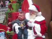 Watch free video Baby Sees Santa For The First Time And Cries!