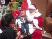 شاهد كارتون مجانا Baby Sees Santa For The First Time And Cries!