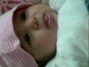 Cute Baby Wafa Talking To Mom