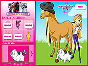 Juega al juego gratis Horseland Dress up