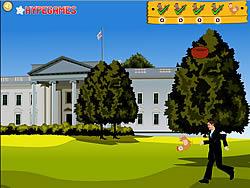 Obama Romney Chicken Kick game