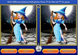 Halloween 5-Differences game