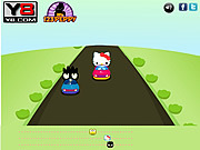 Hello Kitty Car Race game