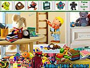 שחקו במשחק בחינם Kids Cartoon Room Hidden Object
