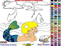 Mermaid Coloring game
