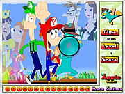 Phineas and Ferb Hidden Numbers game