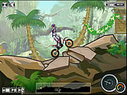 Juega al juego gratis Jungle Moto Trial