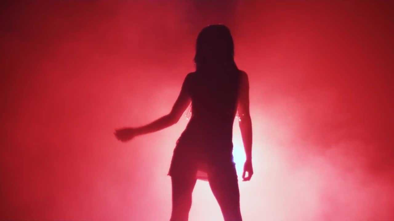 Watch free video Silhouette of a Girl