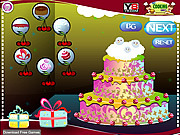 Juega al juego gratis Christmas Cake Decoration 2013
