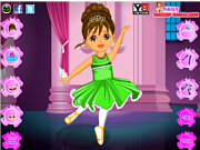 Juega al juego gratis Dora Ballet Dress Up Game