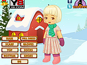 X mas Snow Kid Dress Up game