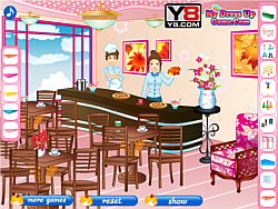 Play restaurant decorating game game online y8 com for Decor y8