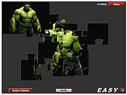 Jouer au jeu gratuit Green Hulk Jigsaw