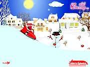 Santa Clause with Snowmobile game