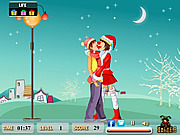 Juega al juego gratis Christmas Treat Kiss