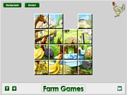 Farm Animal Sliding game