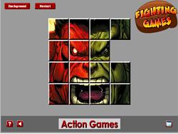 Red VS Green Hulk Sliding game