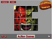 Red VS Green Hulk Sliding game