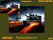 Tanks in Action Jigsaw game