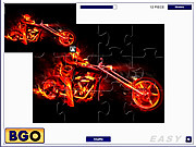 Hell Rider Puzzle game