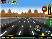 Ben 10 Highway Skateboarding game