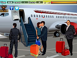Kissing at the Airport game