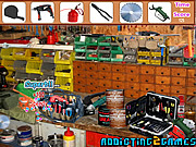 שחקו במשחק בחינם Workshop Tool Room Hidden Objects