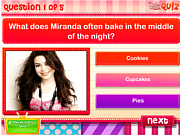 שחקו במשחק בחינם DM Quiz: Do you know Miranda Cosgrove?