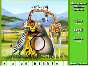 Madagascar Hidden Letters game