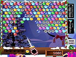 Play Bubble Shooter Christmas game online - Y8.COM