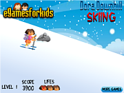 Dora Downhill Skiing game