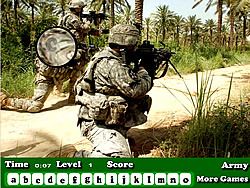 Army Hidden Letters game