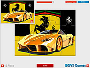 Ferrari Jigsaw Game game