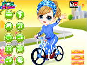 Juega al juego gratis The Little Girl Learn Bicycle