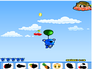 Blue panda fruit catcher game