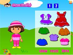 Dora Fun Dress Up game