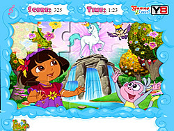 Jolly Jigsaw Puzzle - Dora the Explorer game